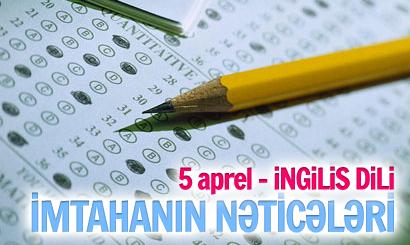 5 Aprel İngilis dili İmtahanının nəticələri